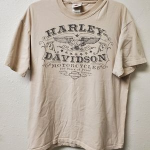 Tan Harley Davidson tshirt